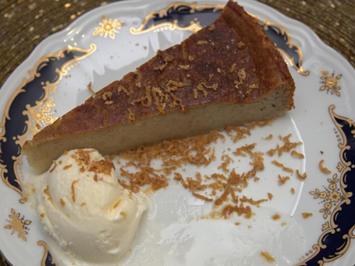 Bananen-Kuchen mit Vanille-Eis und Rohrzucker - Rezept - Bild Nr. 2