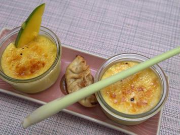 Zweierlei Crème brûlee mit Bananen-Jiaozi - Rezept - Bild Nr. 2