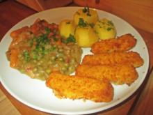 Fischstäbchen mit dicker Gemüsesoße - Rezept - Bild Nr. 14394
