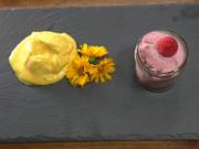 Selbstgemachtes Mango-Eis mit einem Himbeertraum - Rezept - Bild Nr. 14418