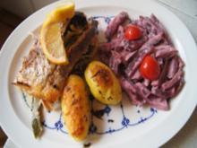Backofen-Lachsforelle mit Rosmarin-Drillingen und Rote-Bete-Salat - Rezept - Bild Nr. 2
