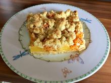 Krümelkuchen mit Pfirsichen und Aprikosen - Rezept - Bild Nr. 14534