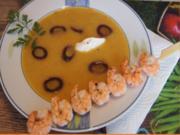 Möhren-Mango-Suppe mit Garnelenspieß - Rezept - Bild Nr. 2