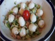 Pikanter Salat mit Wachteleiern - Rezept - Bild Nr. 2