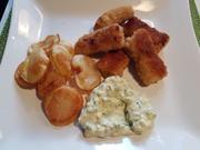 """Fischstäbchen mit """"Ballon-Kartoffel-Chips - Rezept - Bild Nr. 14596"""