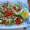 – kulinarische Weltreise – Griechischer Salat mit Mandeln und Ei - Rezept - Bild Nr. 2