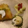 Künefe mit Honigmelonen-Bällchen in Eierlikör und Vanilleeis mit Pistazienhaube - Rezept - Bild Nr. 3
