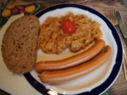 Würziges Sauerkraut mit Wiener Würstchen und Fitness-Butterbrot - Rezept - Bild Nr. 14684