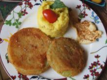 Kohlrabi-Schnitzel mit Sellerie-Kartoffel-Stampf - Rezept - Bild Nr. 14689