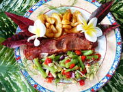 Grüner Bohnen-Salat mit Birnen und Speck - Rezept - Bild Nr. 14689