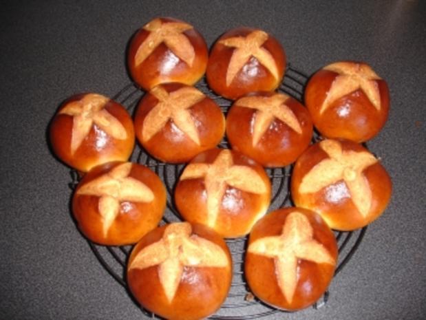 Hot Cross Buns - Rezept