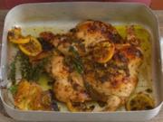 Hühnchen mit Zitrone und Thymian - Rezept