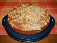 Kirschkuchen mit gehackten Mandeln - Rezept