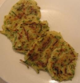 Frittierte Zucchini Küchlein - Rezept