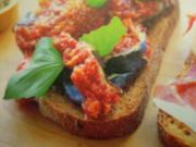 Brot getoastet mit Feigen und Parmaschinken - Rezept