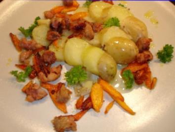 Salsiccia etwas rustikal mit kleinen Kartoffeln - Rezept
