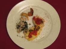 Steinbutt alla Trapanese mit getrüffeltem Spinat und frittierten Artischockenherzen - Rezept