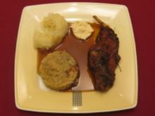 Hosnbrodn, griene Kließ un Sauerkraut - Rezept