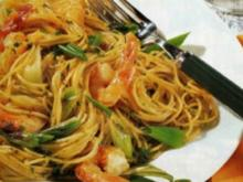 Feurige Spaghetti mit Garnelen - Rezept