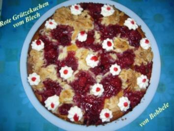 Kuchen: Rote-Grütze-Kuchen vom Blech - Rezept