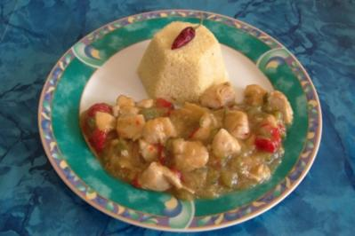 Couscous mit Hähnchen-Ragout - Rezept