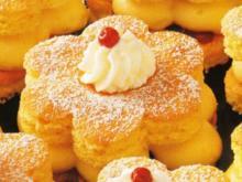 Zitronen Blüten mit Preiselbeeren - Rezept