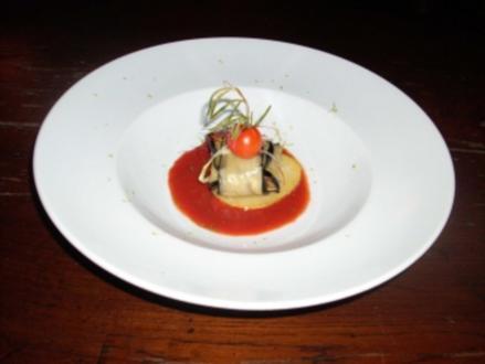 Lammfleisch im Auberginenpäckchen - Rezept