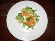 Gebackene Scholle in der Parmesankruste mit Kartoffelsalat - Rezept