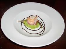 Seeteufel im Speckmantel auf einem Erbsenpüree - Rezept