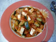 Schnelle Zucchini -Pfanne mit Tomaten - Rezept