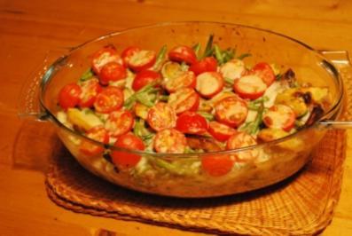 Kartoffelauflauf mit Hack, Bohnen und Tomaten - Rezept