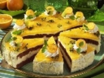 Kumquats-Joghurt-Torte mit Marzipan - Rezept