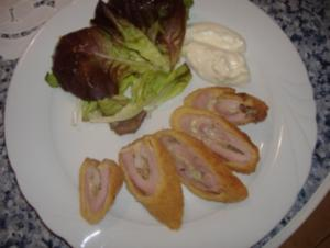 Flamenquin Casero ( Schinken-Fleisch-Käseröllchen ) - Rezept
