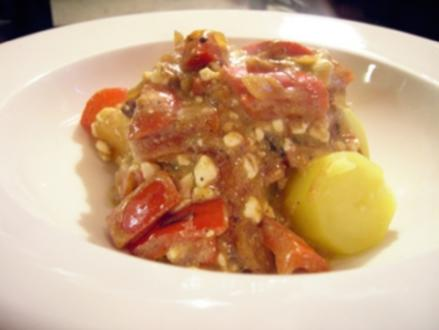Sähmige Paprika-Sauce mit Cottage Cheese - Rezept