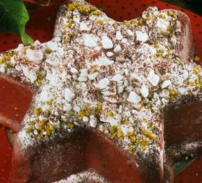 Weichnachtsstern mit Schneeflocken - Rezept