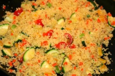 Gemüse Couscous in Paprika - Rezept