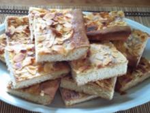 Butterkuchen mit Mandeln - Rezept