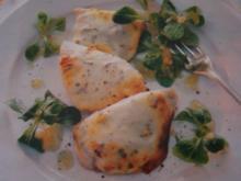Käse-Senf-Schnitzel - Rezept