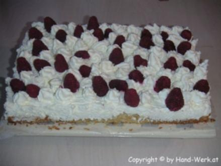 Himbeer-Biskuit-Kuchen - Rezept