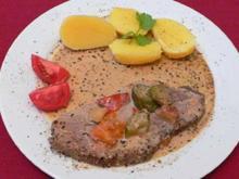 Rinderbraten mit Kartoffel-Quartett und Herbst-Feldsalat mit Kräutern der Insel Reichenau - Rezept