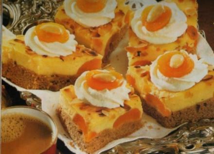 Lebkuchen-Ecken mit Schmandguß - Rezept
