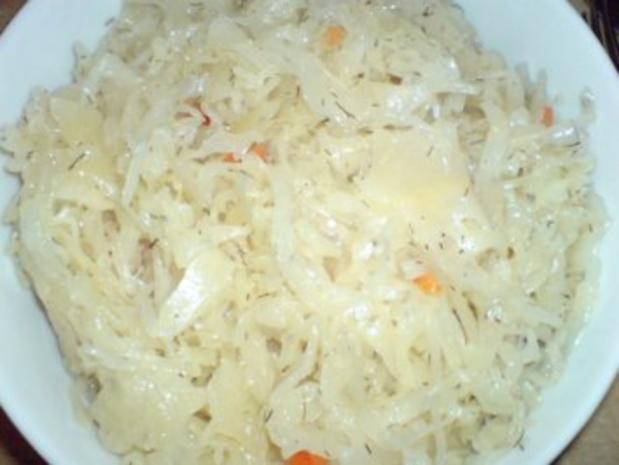 Grützwurst mit Kartoffeln und Sauerkraut - Rezept - Bild Nr. 5