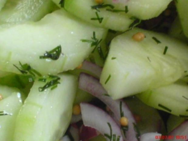 Schüttel-Gurken - Rezept