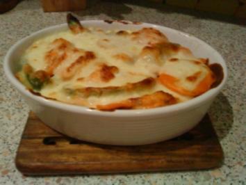 Tomaten-Paprika-Kartoffelauflauf mit Mozzarella - Rezept