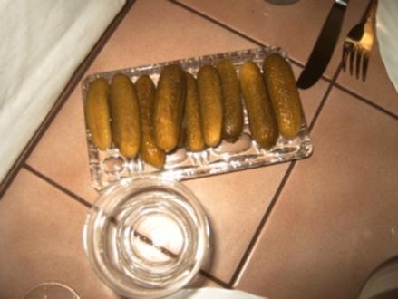 Gewürzgurken-saure Gurken - Rezept