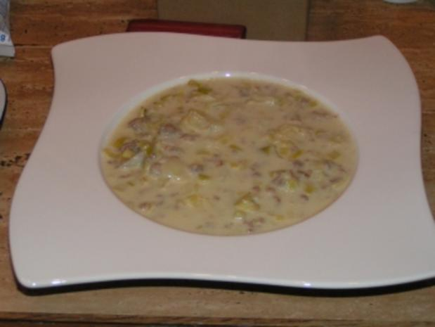 Käsesuppe mit Lauch - Rezept