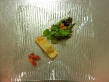 Gebackene Medaillons vom Zicklein m. Büffelmozzarella an Wildkräutersalat - Rezept