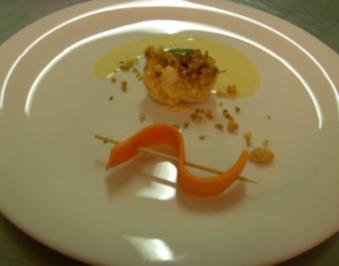 Meeresfrüchte-Safrancrumble an Orangenblüten-Kokossößchen - Rezept