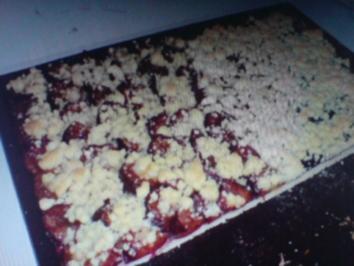 Butterstreusel oder Krümel für Obstkuchen, Hefekuchen usw. - Rezept