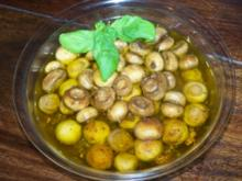 Antipasti: Eingelegte Champignons - Rezept